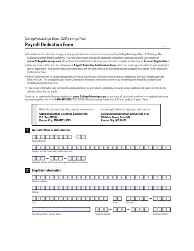 payroll-deduction-form-template