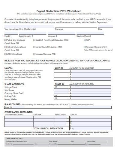 payroll-deduction-worksheet