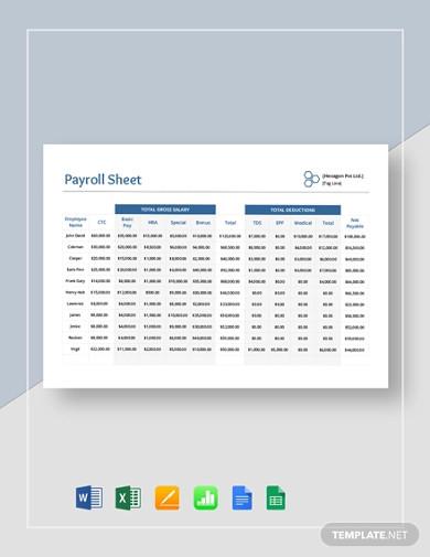 payroll-sheet-template