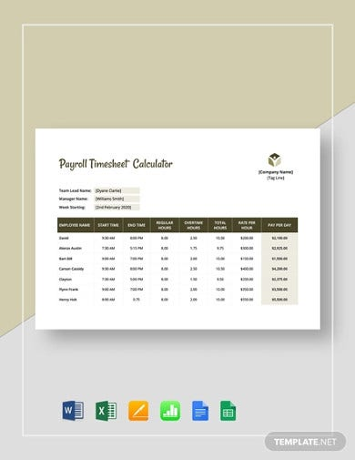 payroll timesheet calculator template2