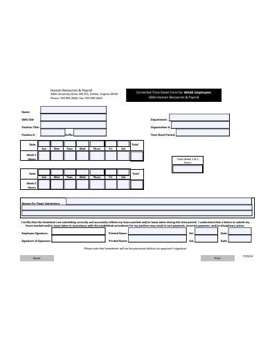 payroll timesheet example