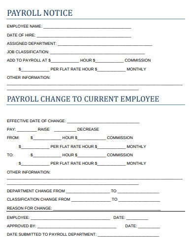 payroll notice template