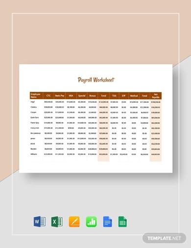 payroll-worksheet-template