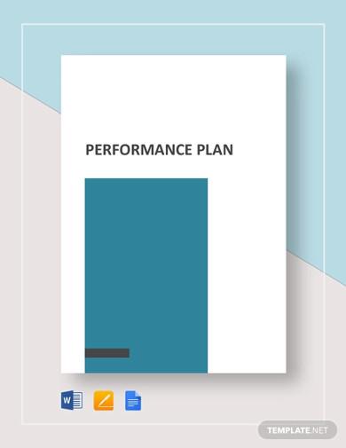 performance plan template in google docs