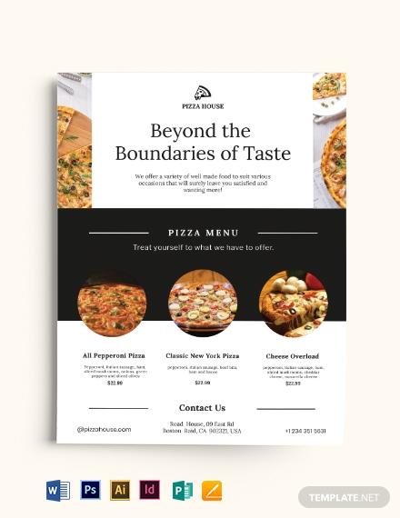 pizza menu flyer flyer template