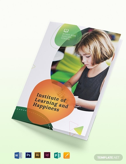 preschool bi fold brochure template 1