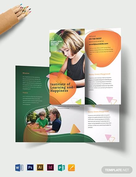 preschool tri fold brochure template 1