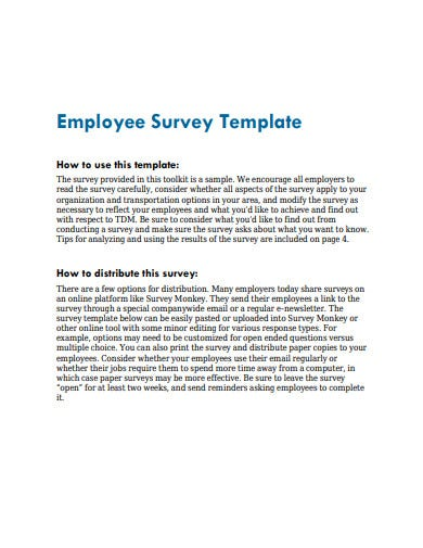 printable employee survey