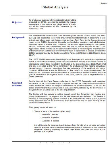 printable goabal analysis template