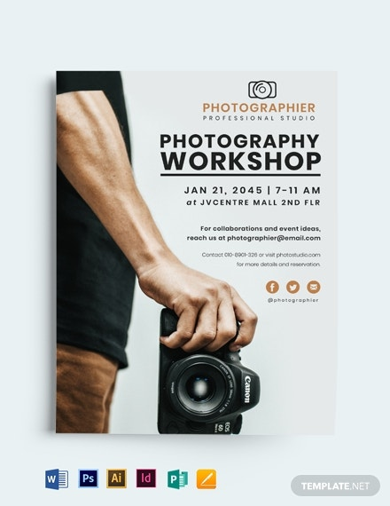 printable photography flyer template