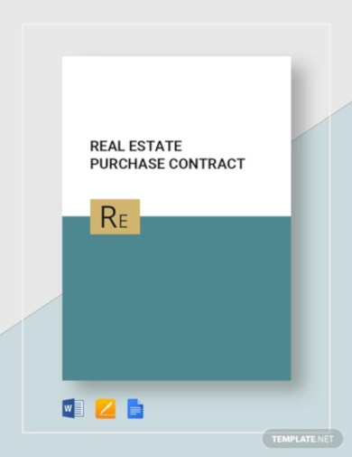 printable real estate purchase contract template