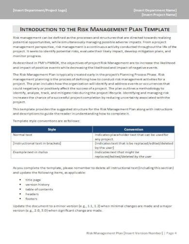 printable risk checklist template