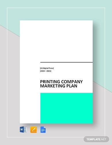 printing company marketing plan template1