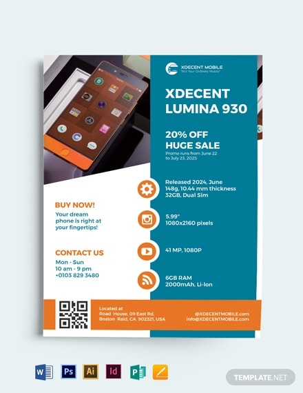 product service flyer template