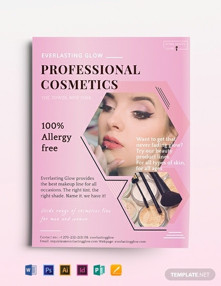 professional cosmetics flyer template