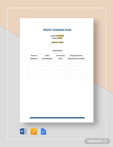 profit sharing plan template in word