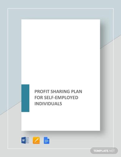 profit sharing plan for self employed individual