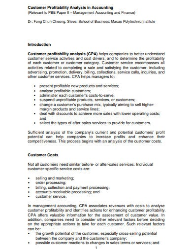 profitability analysis in accounting template