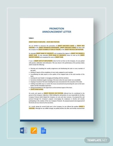 promotion announcement letter template4