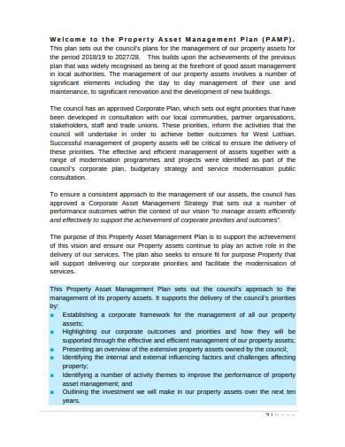 property asset management plan