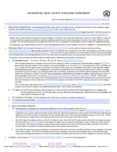 purchase agreement real estate template