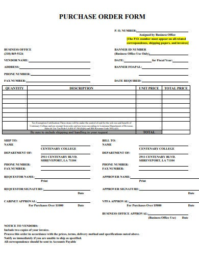 purchase order form template2