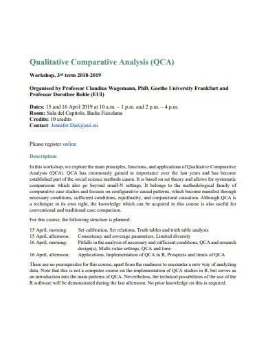 qualitative comparative analysis example