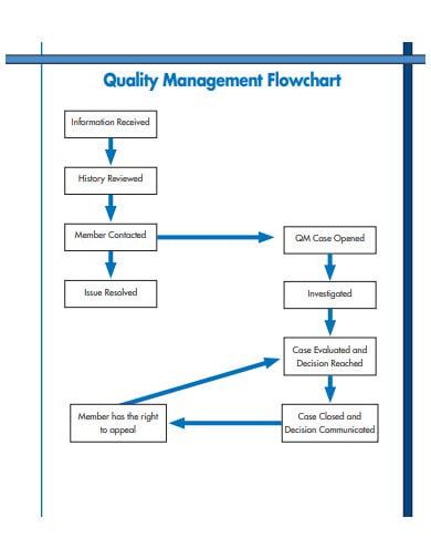 qulity management flow chart template
