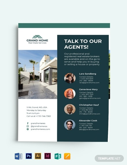 real estate agency flyer template