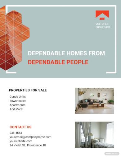 real estate broker promotional flyer template
