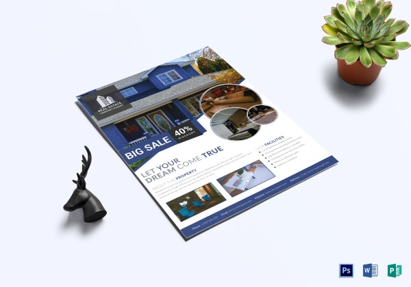 real estate flyers stylish 1