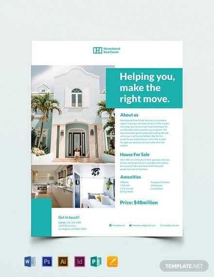 real estate marketing flyer template 440x570 12