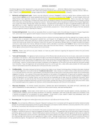 referral agreement example in pdf