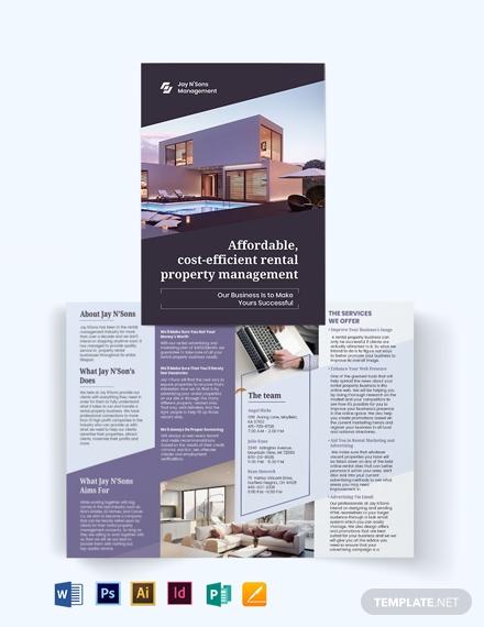rental management bi fold brochure