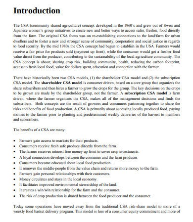 report of profitability analysis sample
