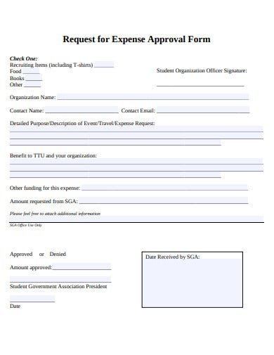 request for expense approval form