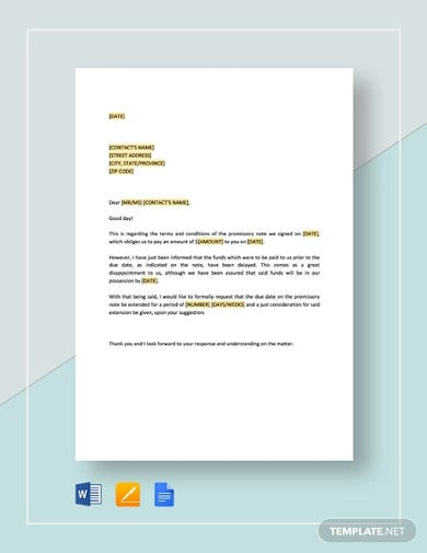 request-for-extension-of-time-on-promissory-note-template