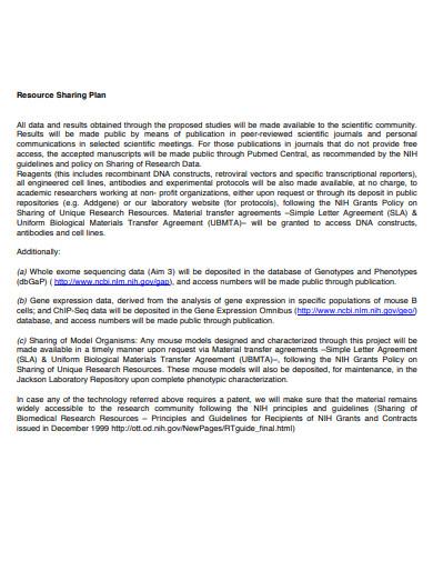 resource sharing plan