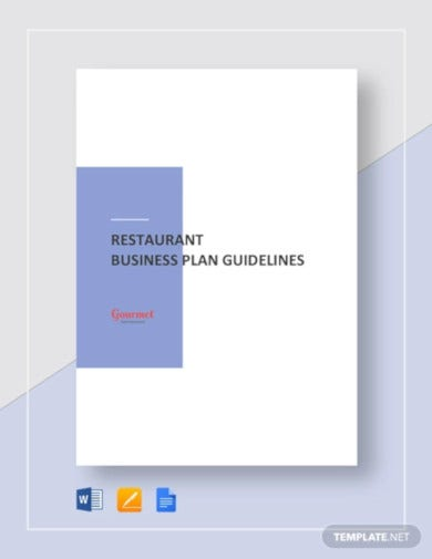 restaurant business plan guidelines template1