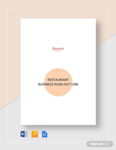 restaurant business plan outline template2
