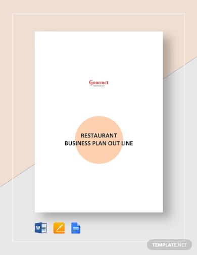 restaurant business plan outline template3