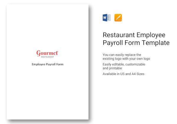 restaurant-employee-payroll-form-template