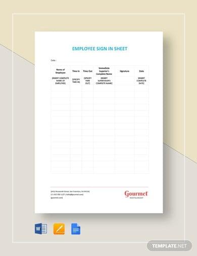 restaurant-employee-sign-in-sheet-template