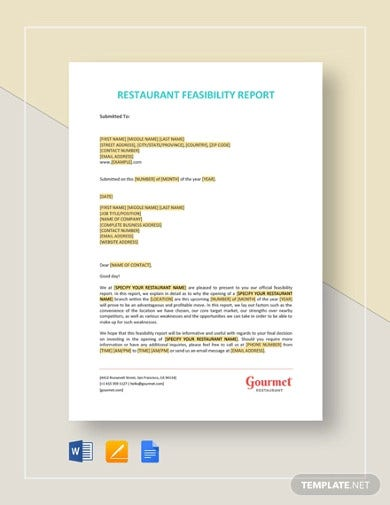 restaurant feasibility report template1