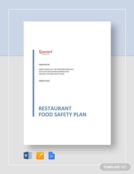 restaurant food safety plan 1