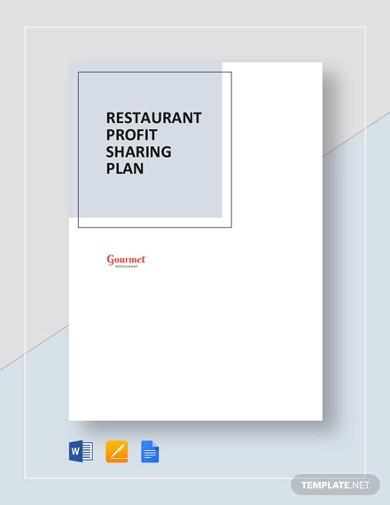 restaurant profit sharing plan