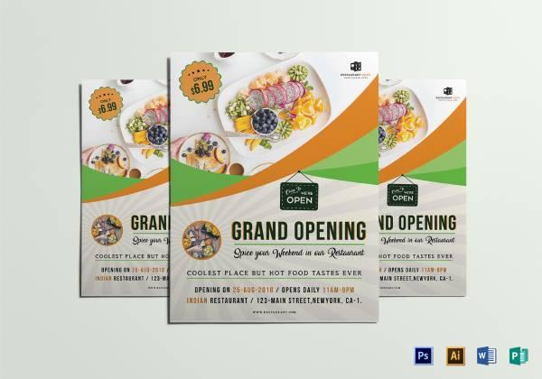 restaurant grand opening flyer 11