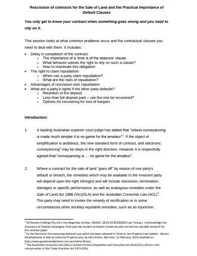4+ Rescission Contract Templates- Google Docs, Word, Pages