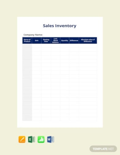 sales inventory template1