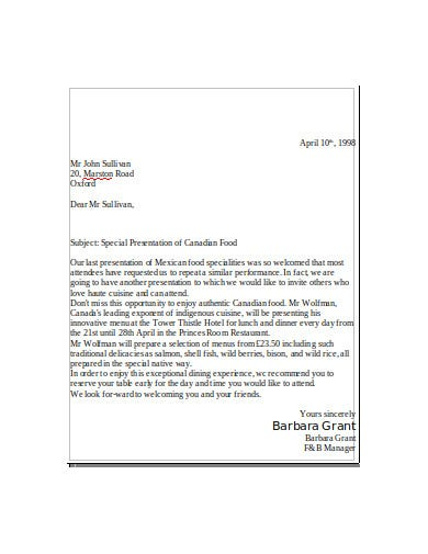 sales promotion letter template